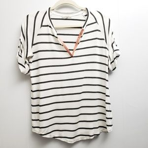 41 Hawthorn Striped Short Sleeve Tee Sz M